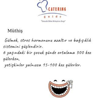 #mutluluk #gülümse #sevinç #cateringguidedergisi